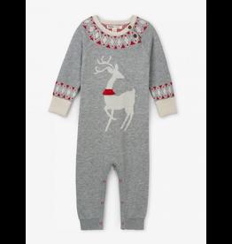 Hatley Hatley   Misteltoe Deer Sweater Romper