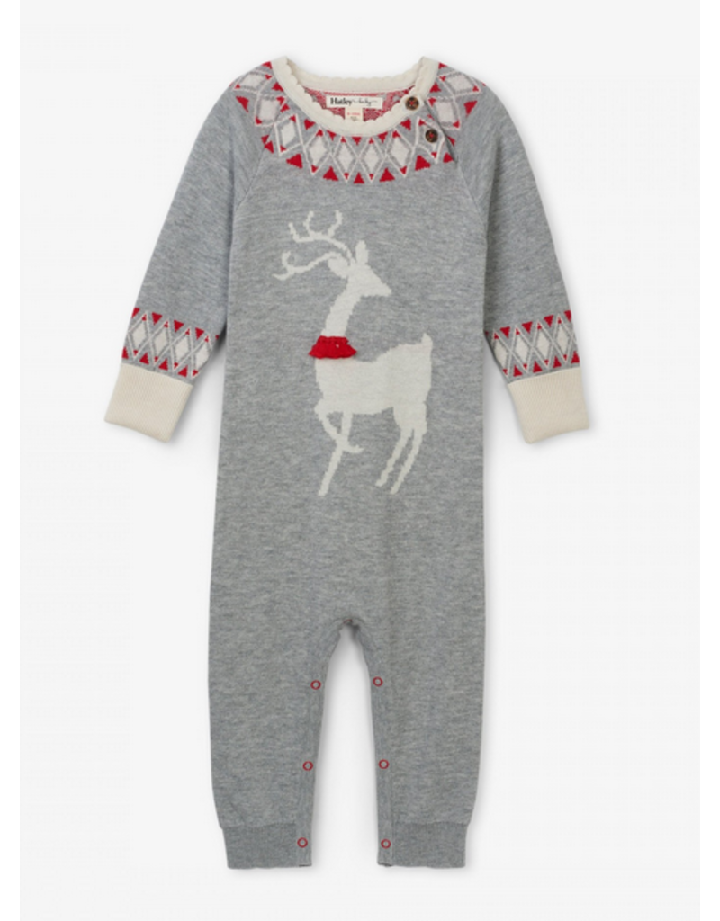 Hatley Hatley   Mistletoe Deer Sweater Romper