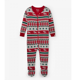 Hatley Hatley | Fair Isle Moose Footed Coverall