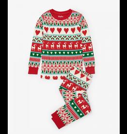 Hatley Hatley | Mistletoe Deer Organic Pajama Set