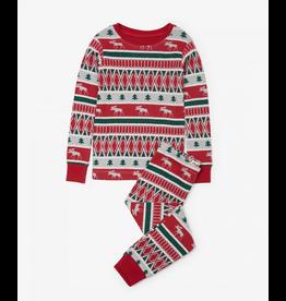 Hatley Hatley | Fair Isle Moose Pajama Set