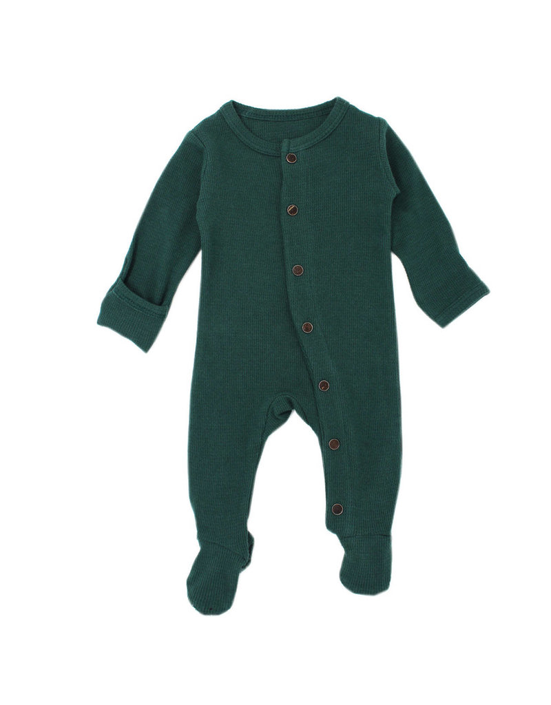 L'oved Baby | Organic Thermal Footie in Pine