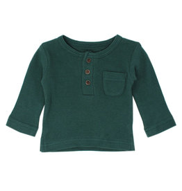 L'oved Baby | Kids Thermal Tee in Pine