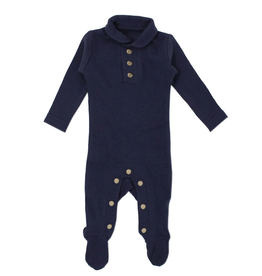 L'oved Baby L'oved Baby | Organic Polo Footie in Navy