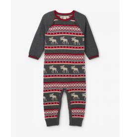 Hatley Hatley | Fair Isle Moose Sweater Romper