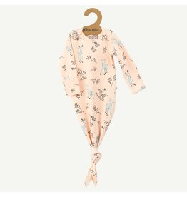 Oliver & Rain Pima Cotton Baby Gown | Pink Deer