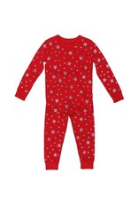 Skylar Luna | Organic Stars Pajamas in Red
