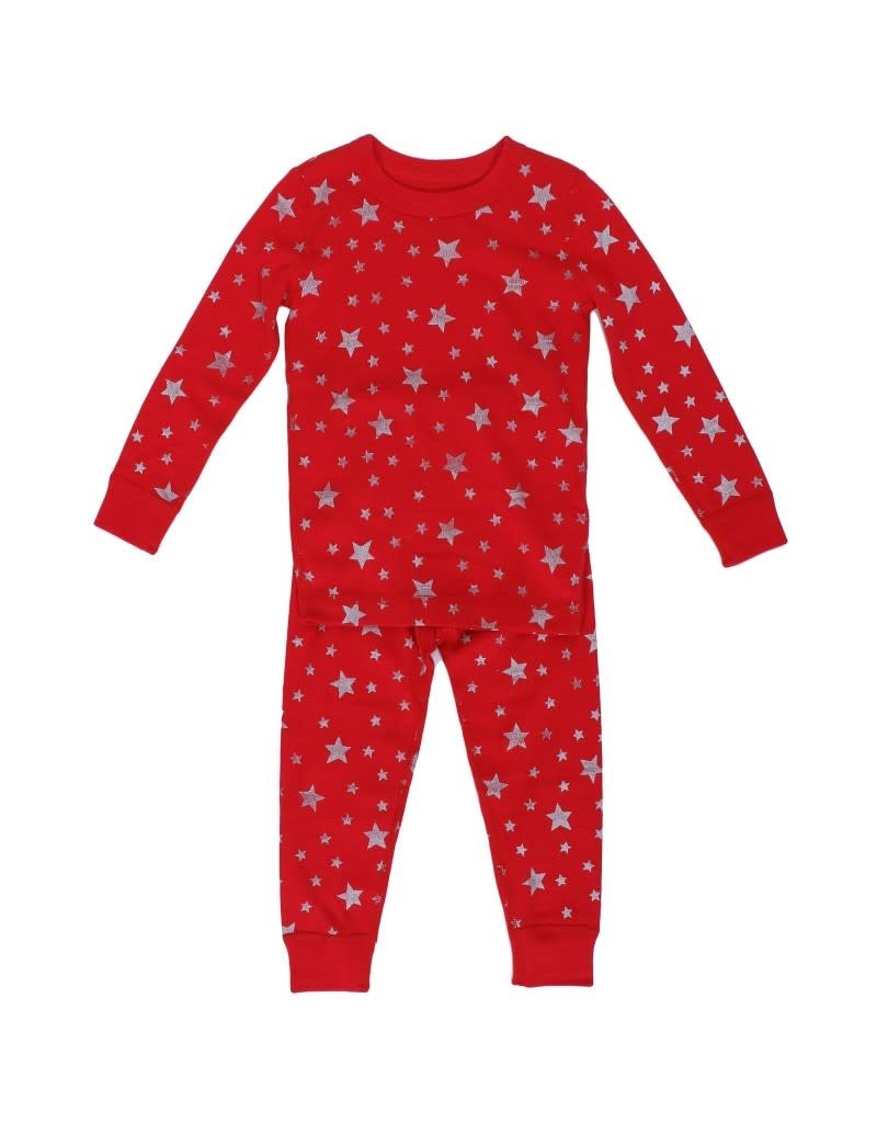 Skylar Luna Skylar Luna | Organic Stars Pajamas in Red