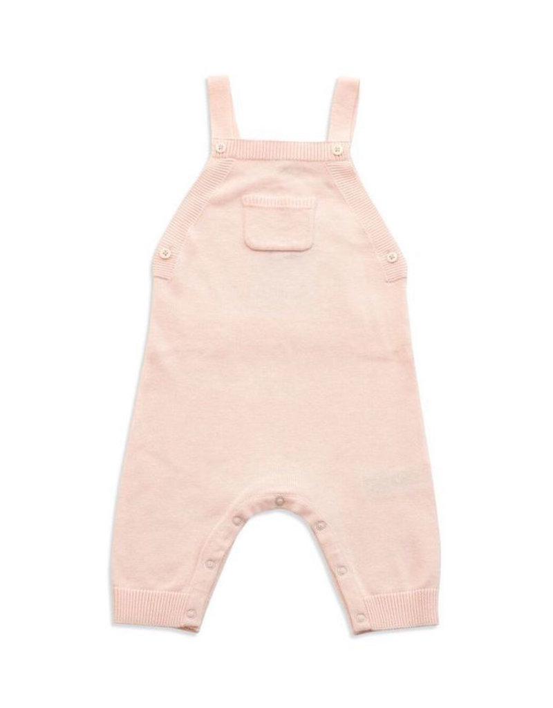 Angel Dear Angel Dear | Knit Overall in Light Pink