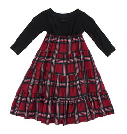 Kickee Pants Kickee Pants| Chirstmas Plaid Tiered Dress