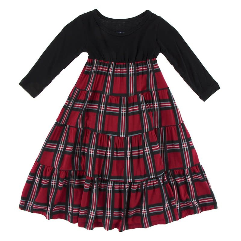 Kickee Pants Kickee Pants| Chirstmas Plaid Tiered Dress