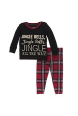 Kickee Pants Kickee Pants| Jingle Bell Plaid Pajama Set