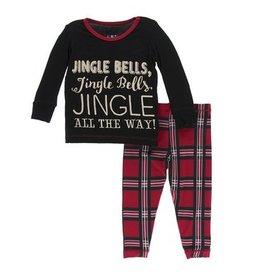 Kickee Pants Kickee Pants | Jingle Bell Plaid Pajama Set