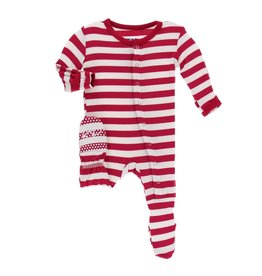 Kickee Pants Kickee Pants | Toddler Candy Cane Snap Footie