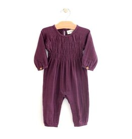 City Mouse City Mouse | Muslin Smocked Romper in Fig
