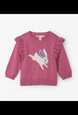 Hatley Hatley  Sweet  Bunny Ruffle Sweater