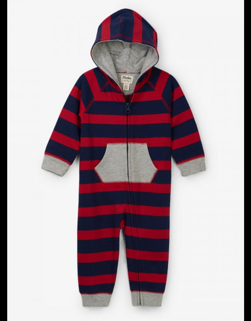 Hatley Hatley | Crimson Stripe Baby Romper