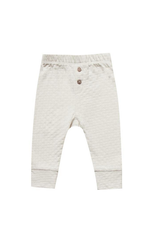 Quincy Mae Quincy Mae | Organic Pointelle Pant in Pebble