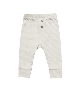 Quincy Mae | Organic Pointelle Pant in Pebble