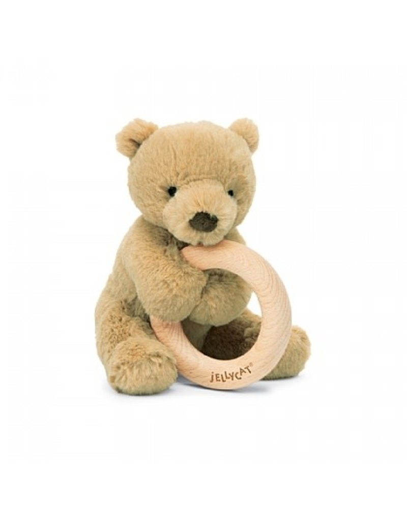 JellyCat Jelly Cat| ShooShu Bear Ring Teether