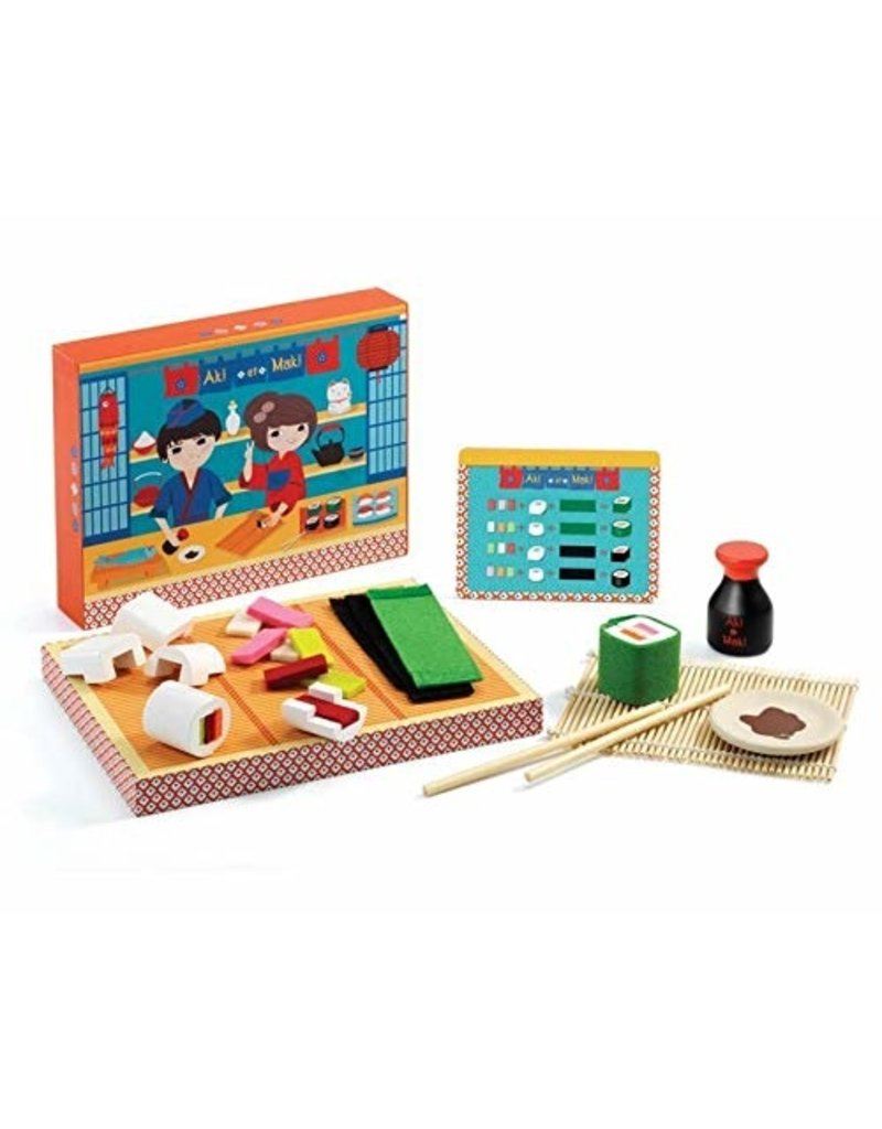 Djeco Aki et Maki Make sushi with a menu