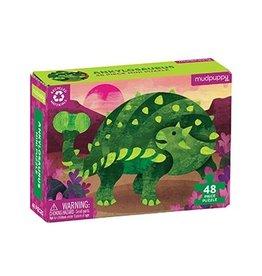 48 pc Mini Puzzle | Ankylosaurus
