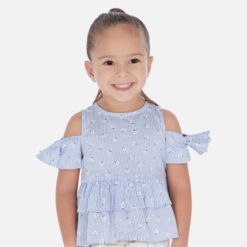 Mayoral Mayoral | Open Shoulder Toddler Blouse