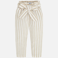 Mayoral Mayoral | Striped Paper Bag Pants