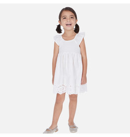 Mayoral Mayoral | Smocked Eyelet Hem Dress