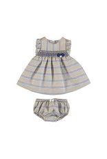Mayoral Mayoral | Linen Stripe Baby Dress