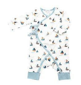 Angel Dear Angel Dear | Muslin Simple Boats Wrap Coverall