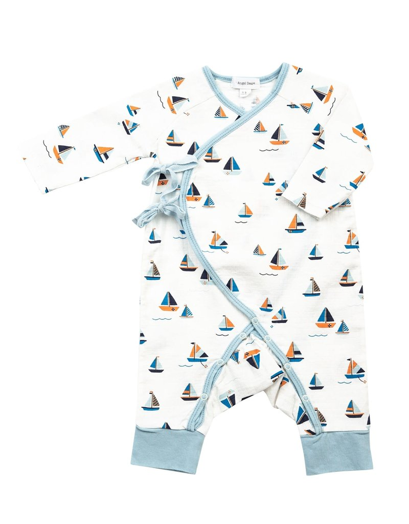 Angel Dear Angel Dear | Muslin Simple Boats Wrap Coverall