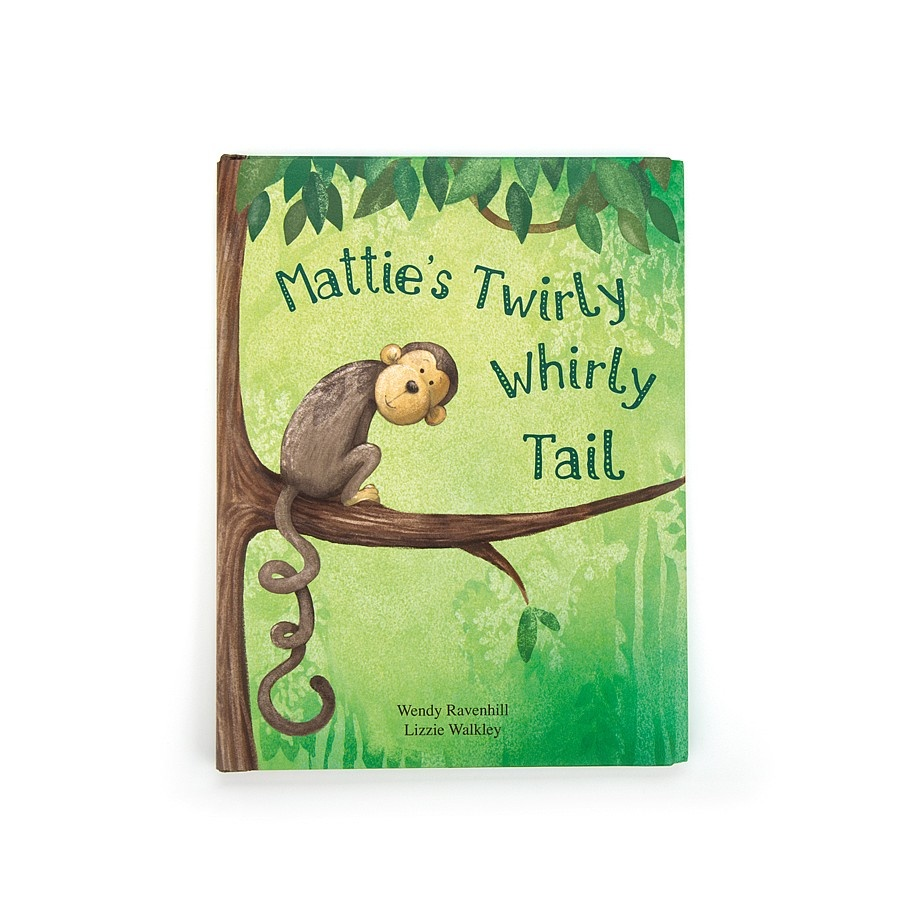 JellyCat JellyCat | Mattie's Twirly Whirly Tail Book