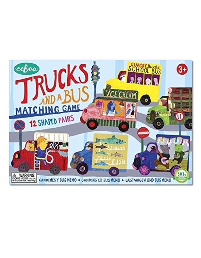 eeBoo Trucks and a Bus Memory & Matching game