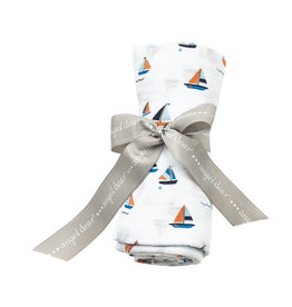 Angel Dear Angel Dear | Simple Boats Muslin Swaddle