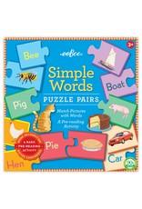 eeBoo Simple Words Puzzle Pair