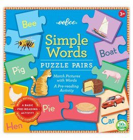eeBoo Simple Words Puzzle Pair