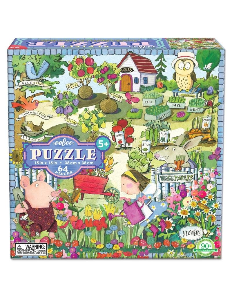 eeBoo Growing a Garden 64 Piece Puzzle