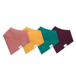 Copper Pearl Copper Pearl | 4-Pack Bandana Bib Set Jade