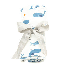 Angel Dear Angel Dear | Whale Pod Bamboo Jersey Swaddle
