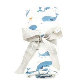 Angel Dear Angel Dear | Whale Pod Bamboo Jersey Swaddle