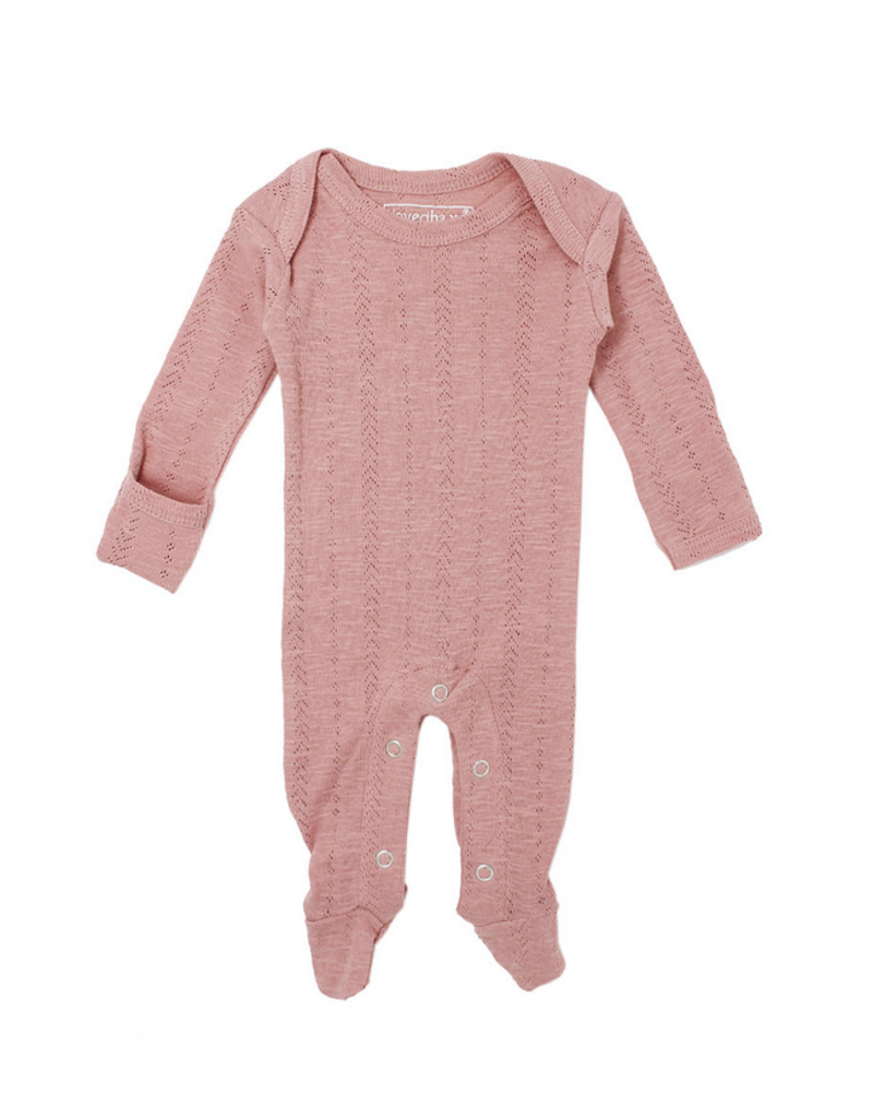L'oved Baby L'oved Baby   Pointelle Lap-Shoulder Footie