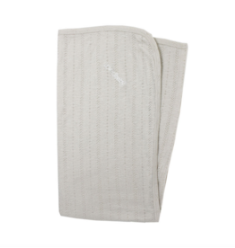 L'oved Baby| Pointelle Swaddling Blanket in Stone