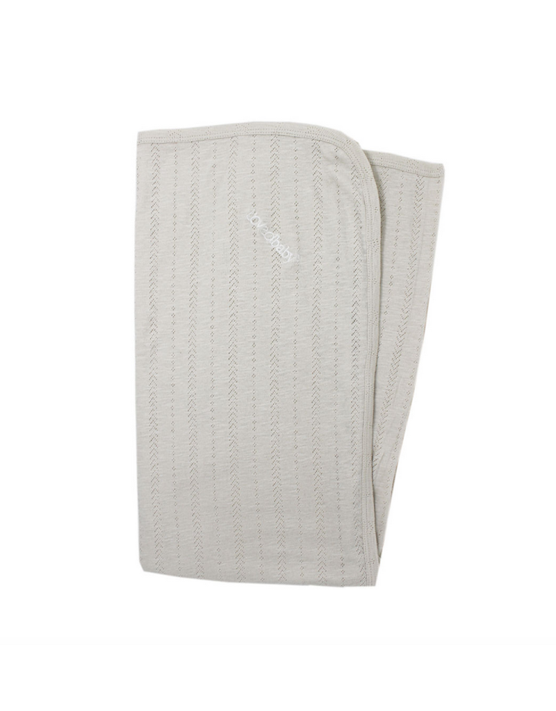 L'oved Baby L'oved Baby| Pointelle Swaddling Blanket in Stone