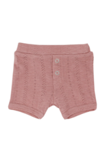 L'oved Baby | Pointelle Shorts in Mauve