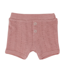 L'oved Baby | Pointelle Baby Shorts in Mauve