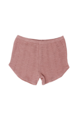 L'oved Baby | Pointelle Tap Shorts in Mauve