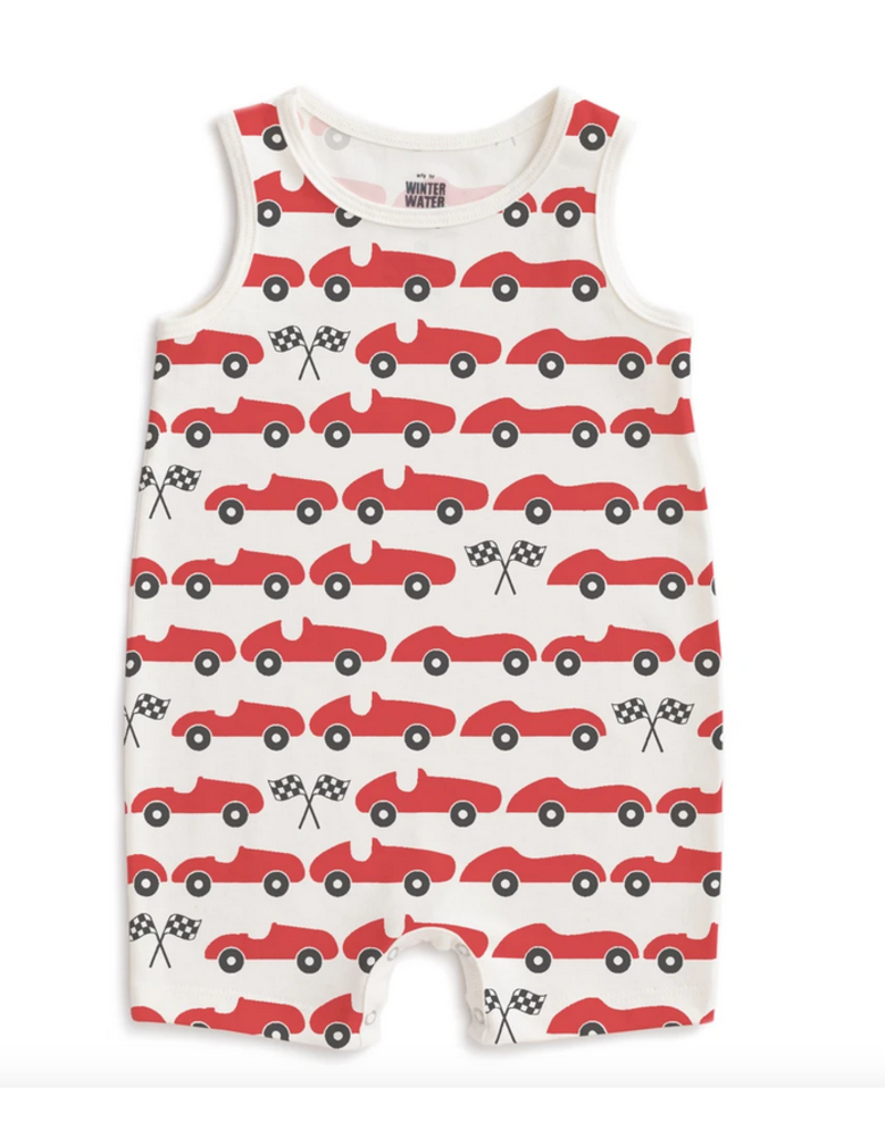 Winter Water Factory Winter Water Factory | Tank Romper in Racecars
