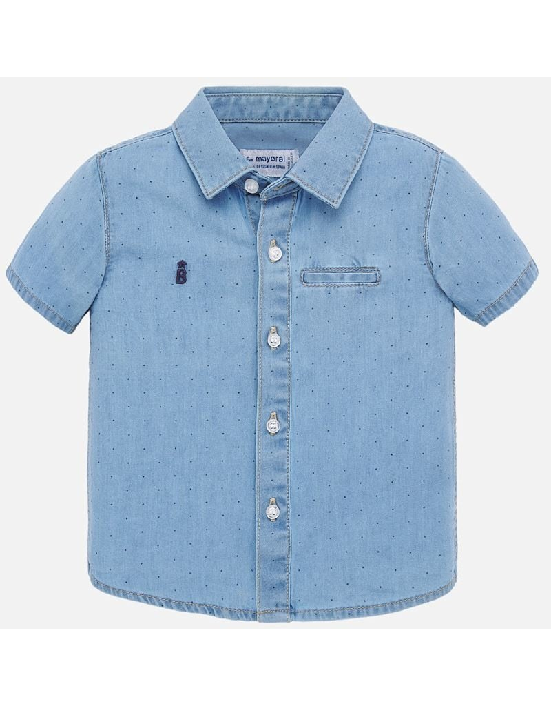 Mayoral Mayoral | Short Sleeve Denim Shirt