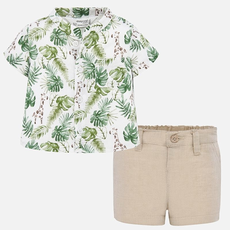 Mayoral Mayoral | Tropical Shirt & Short Set